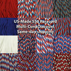 550 Paracord 100 foot  Red, White and Blues  USA MADE  same day shipping * $8.99 USD on eBay