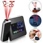 Electric Digital Projection LED Snooze Alarm Clock Backlight LCD Weather Display