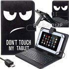"For Samsung Galaxy Tab E 9.6 / 8.0"" Tablet Folio Case Cover with USB Keyboard"