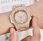 Luxury Hip Hop Jewelry Gold Silver Rose Gold CZ Quartz Stainless Steel Watch W4 image