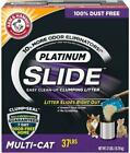 Arm & Hammer Platinum Slide Easy Clean-Up Clumping Cat Litter,  Multi-Cat, 37 lbs
