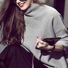 Vogue Tops Women 100 Cashmere Blend High-Necked Sweater Long Sleeve Loose Coat