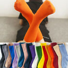 New Women Casual Cotton Knit Solid Soft High-Ankle Crew Socks Autumn Winter Warm