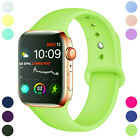 For Apple Watch Series 5/4/3/2/1 38/40/42/44mm Soft Silicone Sports Band Strap