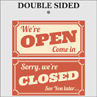 Retro Open and Closed sign double sided 949 Shop Cafe Garage barber signs