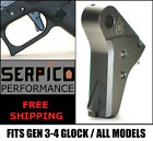 Serpico Bravo ABS Gen 3-4 Flat Face Trigger Shoe fits Glock and P80 All ModelsPistol - 73944