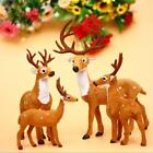 Christmas White-tailed Reindeer Mini Deer Figure Doll Home Party Decoration Gift