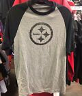 Men's Pittsburgh Steelers Tri-Blend Football Graphite Colour Team Raglan Shirt $29.99 CAD on eBay