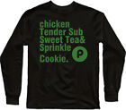 Chicken Tender Sub Sweet Tea and Sprinkle Cookie Costume Men long sleeve T Shirt