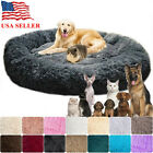Kyпить US Fur Donut Cuddler Pet Calming Bed Dog Beds Soft Warmer Medium Small Dogs Cats на еВаy.соm