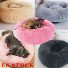 US Fur Donut Cuddler Pet Calming Bed Dog Beds Soft Warmer Medium Small Dogs Cats