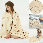 Soft Burrito Blanket Flour Tortilla Round Thick Flannel Fleece Adult kids Gift image