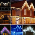 US LED Icicle Snow Falling Outdoor String Light Fairy Curtain Wedding XMAS Party