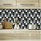 Pack Of 180 Waterproof Mosaic Tile Stickers Bathroom Kitchen Stick On Wall Tile