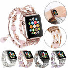 For iWatch Apple Watch Series 5 4 3 2 1 Band Bling Agate Beads Strap Bracelet image
