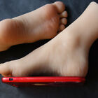 Внешний вид -  Silicone Female Foot Mannequin Fake Feet model Wheat Color Size 30# A716