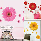 Removable 3d Daisy Flower Home Decor Wall Sticker Bedroom Living Room Decal