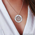 18K White Gold Personalized Family Tree Necklace, Gold Filled Custom Engraved image