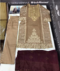Maria b.Winter Khaddar  Embroidered stitched pakistani indian suit wool shawl