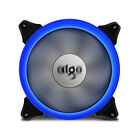 1/2/4 PCS LED 140mm Gaming PC CPU Computer Cooling Ring Quite Clear Case Fan