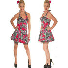 PINK SKULLS & RED ROSES MINI DRESS by HEARTS & ROSES  ALTERNATIVE