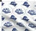 Toile Trailer Trash Mobile Home Funny Redneck Fabric Printed by Spoonflower BTY