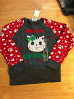Well Worn Holiday Sweater Girls Meow Christmas Cat Kitty Ugly Sweater Free Ship