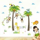 Animal Wall Sticker Decal Removable Pvc Wall Sticker Home Decoration Monkey Cute