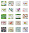 Ambesonne Flower Garden Decorative Satin Napkins Set of 4 Party Dinner Fabric