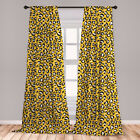 Leopard Microfiber Curtains 2 Panel Set for Living Room Bedroom in 3 Sizes