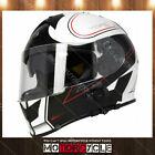 T14B Full Face Motorcycle Helmet Bluetooth Street Flat Black Stryker White M DOT