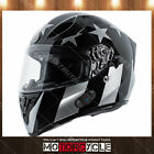 T15B Full Face Motorcycle Helmet Bluetooth Racing Gloss Black Captain Shadow S