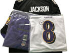 Men's Baltimore Ravens 8# Lamar Jackson Jersey Purple/White/Black M-3XL $55.99 USD on eBay
