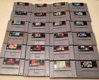 Super Nintendo SNES Games, Controllers, & Console-SELLING INDIVIDUALLY