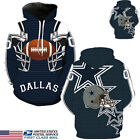 US STOCK Dallas Cowboys Sport Hoodie Sweatshirt Jumper Jacket Hooded Coat Tops $16.09 USD on eBay