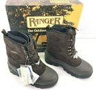 """Vintage Ranger Summit A466 Brown & Black Men's 10"""" Leather Top Pac Lace Up Boots"""