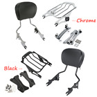 Sissy Bar Backrest Air Wing Luggage Rack Docking Kit For Harley Road Glide 14 20