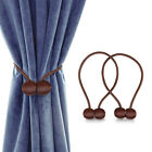 2 Packs Curtain Tie Backs Magnetic Ball Buckle Holder Tieback Clips Home Window