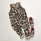 US Summer Newborn Infant Baby Girl Boy Leopard Romper Jumpsuit Outfits Clothes