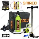 SMACO S400+ Mini Scuba Diving Kit 15-20 Mins Breathing Underwater 1L Oxygen Tank