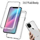 360 CLEAR Case For iPhone XS Max XR X 8 7 Plus 6s SE 2 Cover Silicone Shockproof