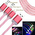 LED USB Data Sync Charger Line Glow Light Up Cable For Android Mobile Phone