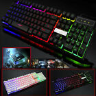 RGB Colorful Crack LED Computer Desktop Gaming Keyboard, Wired, NEON Mouse