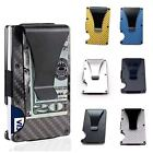 Mens RFID Blocking Slim Money Clip Carbon Fiber Wallet ID Credit Card Holder