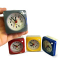 Silent Sweep Small Snooze Alarm Clock w/ Night Light Bedside Table Travel Clock