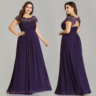 Ever-Pretty US Plus Size Long Chiffon Dress Bridesmaid Evening Prom Gown 09993