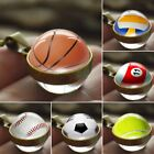 Double Sides Glass Ball Galaxy Sports Planet Pendant Necklace Chain Unisex Gift $2.94 CAD on eBay