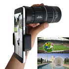 16x52 Zoom Hiking Monocular Telescope HD Camera Lens+Tripod+Clip Fit Cell Phone
