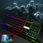 Rainbow LED Gaming Keyboard and Mouse Set Multi-Colored Changing Backlight Mouse