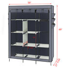 Fabric Canvas Wardrobe With Hanging Rail Shelving Clothes Storage VXC Cupboard